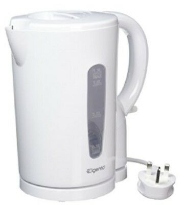 White 1.7 Litre 2200w Cordless Fast Boil Electric Jug Kettle Washable Filter