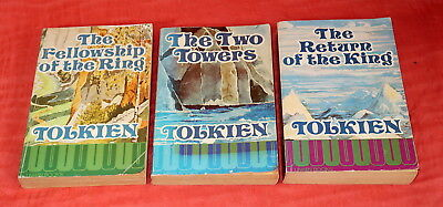 Tolkien Lord of the Rings 1974 Paperback Books - free UK postage