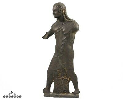 19th C. Grand Tour Etruscan Bronze Apollo Sculpture Raffaelo Romanelli 1812-1887
