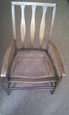 ARTS AND CRAFTS CHAIR (Woven seat)