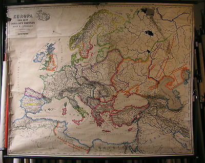 Schulwandkarte Beautiful Old Europakarte Karl 157x126cm 1941 Vintage Map