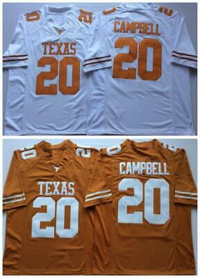 09021e494 20 Earl Campbell Texas Longhorns Embroidered College Football Jersey Size S  XXX