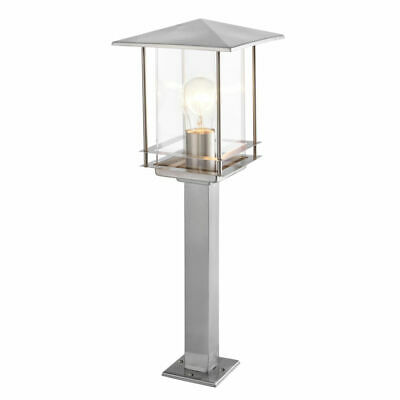 Brushed Stainless Steel Outdoor Garden Decorative Security Wall Lantern IP44