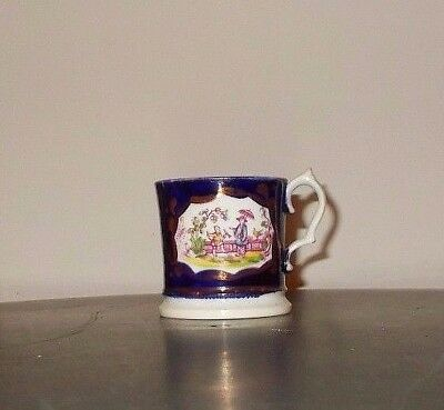VICTORIAN c.1850 GAUDY WELSH CHINOISERIE CHILDS MUG
