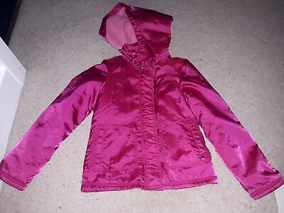 Girls Hot Pink Jacket with Fleece Lining From Gap 10-11 Years