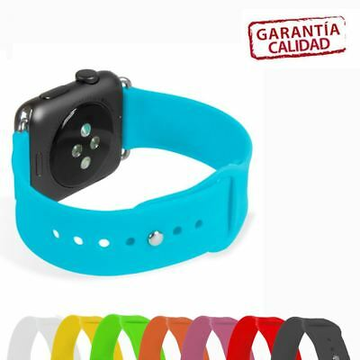 Correas Pulseras Recambio Estilo Apple Watch 38 Y 42Mm De Silicona Sport Band