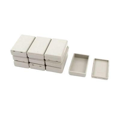 H5I4 10pcs Plastic Electronic Project Case Junction Box 58mmx35mmx15mm X9R6