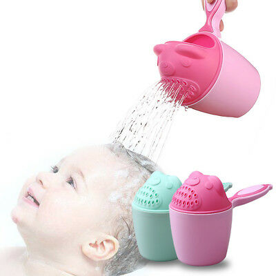 Baby Child Bath Shampoo Cup Shower Spoon Bathing Swimming Sprinkler Toy Kid Gift