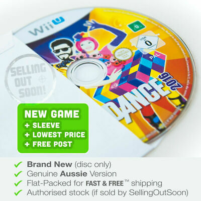 Just Dance 2016 for Wii U ✓NEW ✓AUSSIE Dancing Game For Kids Musical Music Stage