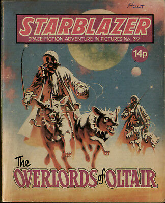 Overlords Of Oltair,starblazer Space Fiction Adventure In Pictures,no.39,1980