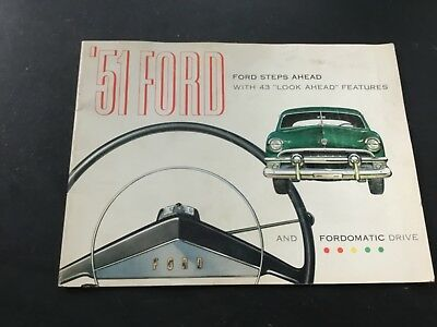 1951 Ford Steps Ahead Sales Booklet,Fordomatic,Sedan,Convertible,Coupe,Litho