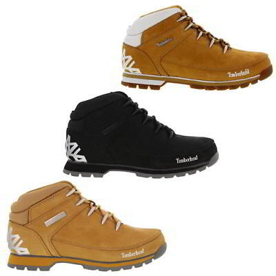 Timberland Euro Sprint Hiker Mens Wheat Black Leather Ankle Boots Size UK 8-11