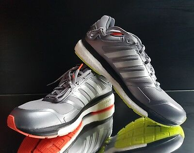 ADIDAS MENS SUPERNOVA Glide Boost Clim Running Shoes Grey