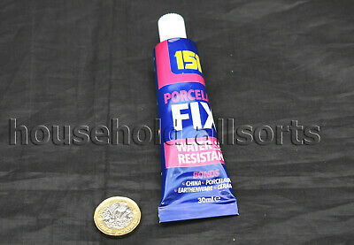 PORCELAIN FIX Adhesive GLUE Water Resistant Bonding Repair Ceramic China Pottery