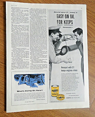 1956 Pennzoil Oil Ad  Oldsmobile Holiday