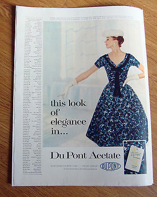 1955 Du Pont Acetate Fashion  Ad  This Look of Elegance In Jomax Frocks