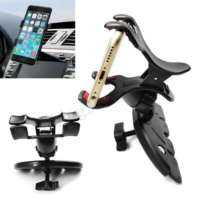 Universal 360° Car CD Slot Mount Holder Clip-on Stand For Mobile Phone GPS PDA