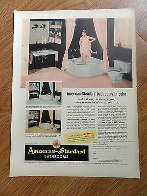 1954 American-Standard Bathrooms Ad Bathrooms In Color