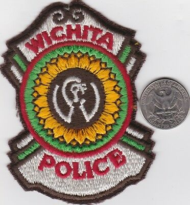 Small 3 inch Cloth Badge for City of WICHITA Police Patch shield State of Kansas