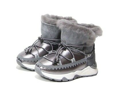 Cool Winter Baby Boys Genuine Leather Warm Shoes Children Girls Mid Calf
