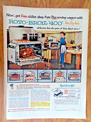 1955 Kitchen Roto-Broil 400 Ad  King Size Fiesta