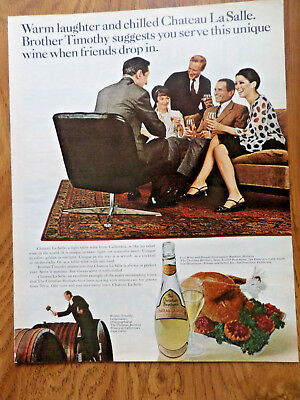 1967 Christian Brothers Brandy Ad Warm Laughter & Chilled Chateau La Salle