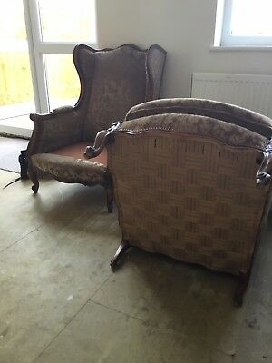 antique french sofa settee and armchair