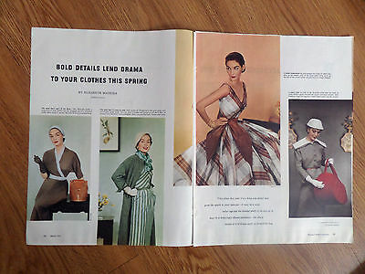 1953 Fashions Clothes Ad Dresses Hats Shoes