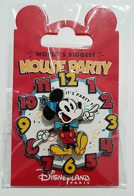 Pins Disneyland Paris WORLD'S BIGGEST MICKEY MOUSE PARTY SPINNER Pin's NEW!!!!
