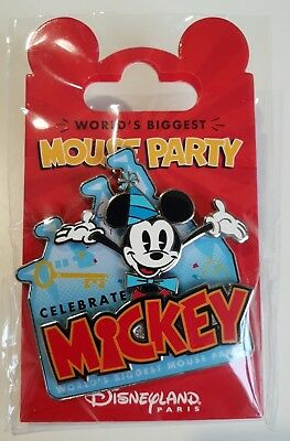 Pins Disneyland Paris WORLD'S BIGGEST MICKEY MOUSE PARTY CELEBRATE Pin's NEW!!!!