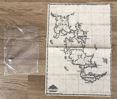 Dishonored 2 Cotton Cloth Map Karte 16x 12 Playstation 4 Xbox One