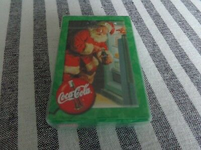 Sealed Coca Cola Santa Claus Christmas Bicycle Playing Cards Coke Advertising