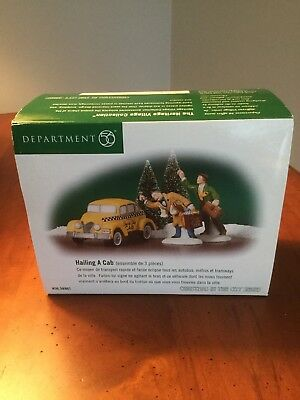 Dept 56  Christmas In The City - Hailing A Cab Set