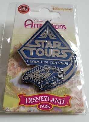 Pins Disneyland Paris Collection ATTRACTIONS STAR TOUR L'aventure Continue Pin's