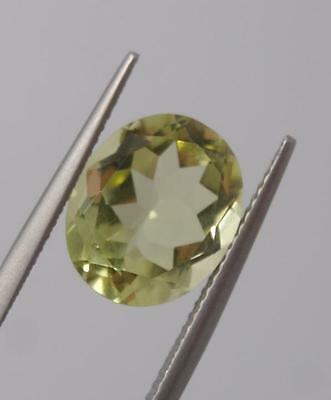 *4.48Ct Loose Lemon Quartz Oval Cut Gemstone*