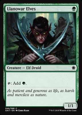 MTG 4x Llanowar Elves [English, Playset, Game Night, Free P&P]