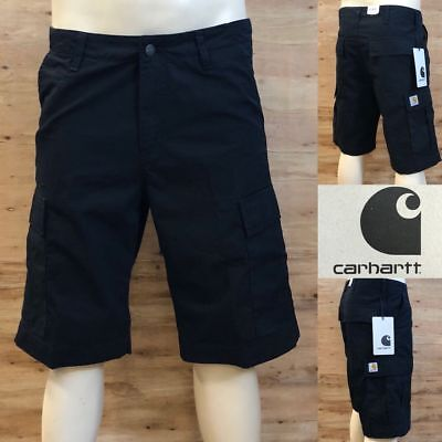 *carhartt Regular Cargo Short  *neu *original Mit Etikett *black Rinsed