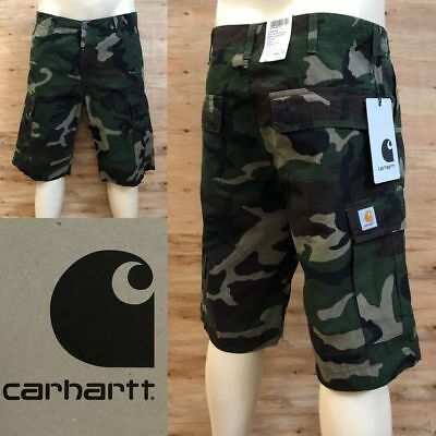 *carhartt Regular Cargo Short  *neu *original Mit Etikett *camo Green Rinsed