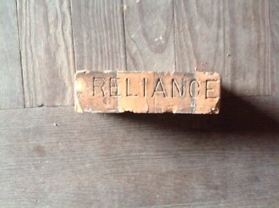 Antique Brick Stamped *****. Reliance ***** (Orange Color)