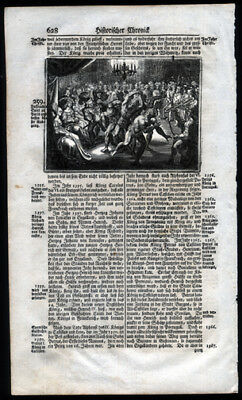 1743 History of The German People Woodcut  Mithridates IV Killing His Son Machar