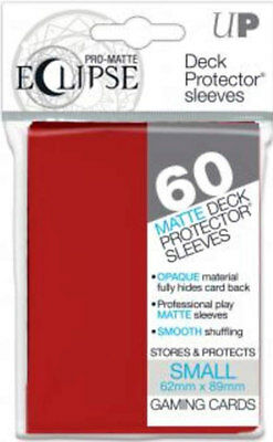 Ultra Pro - Matte Deck Protector Sleeves Eclipse - Rot - small 60