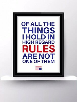 House Of Cards Netflix Quotes Tv Show Poster Print Wall Hanging Decor Fan Gift