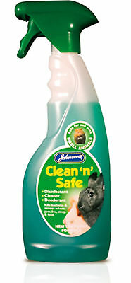 Johnson's Clean  'N' Safe Disinfectant Small Animal 500ml  (cages,hutches,bowls)