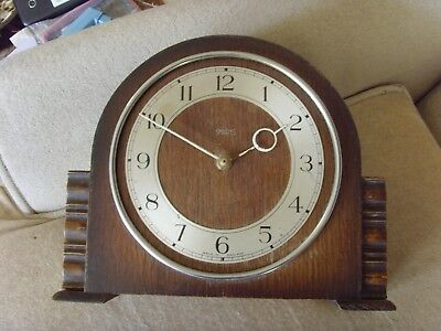 SMITHS 8 Day VINTAGE 1950's MANTLE CLOCK...SPARES OR REPAIR.