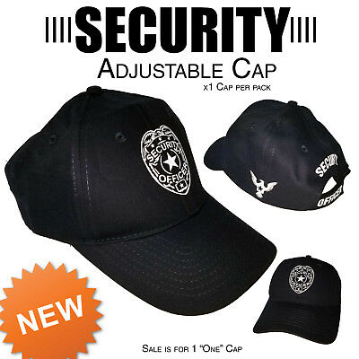 Security Cap Adjustable Security Guard Hat Officer New One Size Fits adult