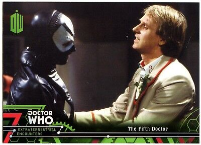 Fifth Doctor #5 Dr. Who Extraterrestrial Encounters 2016 Topps Trade Card C2008
