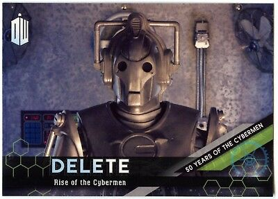 Rise Of #6 Dr Who Extraterrestrial Encounters DELETE Cybermen Chase Card (C2014)