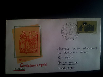 1966 CHRISTMAS first-day cover Australia