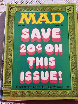 7 Mad Magazines from 1983