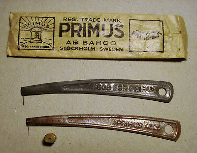 Vintage Primus Paraffin Stove Jet Cleaning Wires Needles + Brass Jet